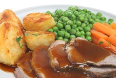 Roast Lamb Dinner Stock Images