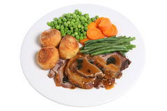 Roast Lamb Dinner Stock Photography