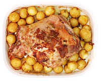 Roast Lamb Dinner Royalty Free Stock Images