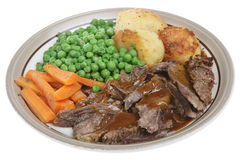 Roast Lamb Dinner Royalty Free Stock Photography