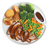 Roast lamb Dinner Stock Photo