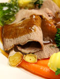 Roast Lamb And Garlic Stock Photos