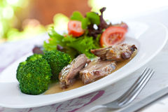 Roast lamb with gravy Royalty Free Stock Image