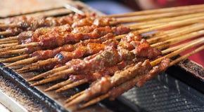 Roast lamb Kebab Royalty Free Stock Photos