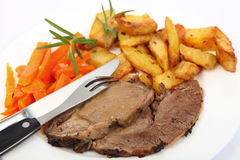 Roast lamb meal Stock Image