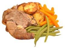 Roast Lamb Meal Stock Photography