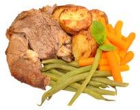 Roast Lamb Meal Stock Photos