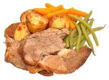 Roast Lamb Meal Royalty Free Stock Photos