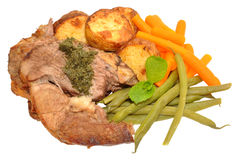 Roast Lamb Meal Stock Images