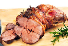 Roast Lamb with Rosemary Royalty Free Stock Photos