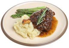 Roast Lamb Shank Dinner royalty free stock photography