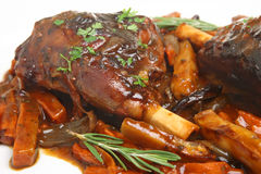 Roast Lamb Shanks with Vegetables Royalty Free Stock Photo