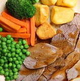 Roast Lamb Sunday Dinner Stock Photo