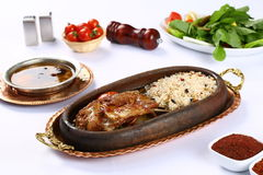 Roast Leg of Lamb with rice Royalty Free Stock Images