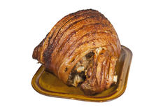 Roast Leg of Pork with Crispy Crackling Royalty Free Stock Photo