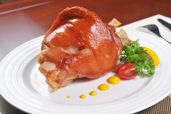 roast leg of pork Royalty Free Stock Photos