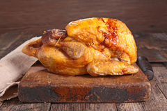 Roast meat on board Royalty Free Stock Images