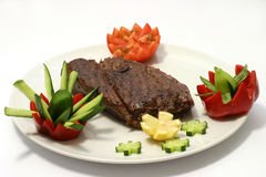 Roast meat chunk Royalty Free Stock Image