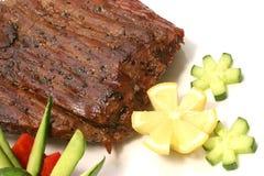 Roast meat chunk Stock Photos