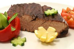 Roast meat chunk Royalty Free Stock Images