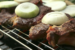 Roast meat on electrical roaster Stock Photography