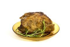 Roast meat. Isolated on white Royalty Free Stock Image