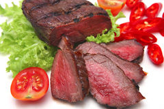 Roast meat over white Royalty Free Stock Photography