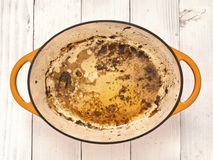 Roast meat pan juices Royalty Free Stock Photo