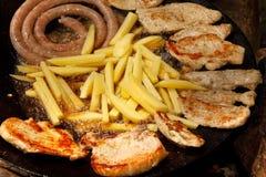 Roast meat with potato Stock Image
