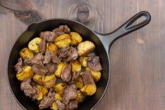 Roast meat with potato Stock Photo