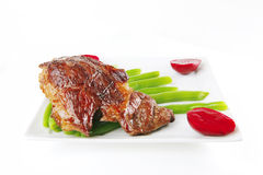 Roast meat served Stock Image
