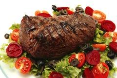 Roast meat served Stock Photo