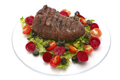 Roast meat and vegetables Royalty Free Stock Images