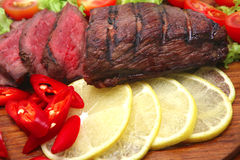 Roast meat with vegetables Royalty Free Stock Images