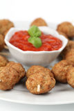 Roast meatballs with tomato sauce Royalty Free Stock Photos