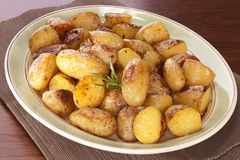 Roast New Potatoes Royalty Free Stock Images