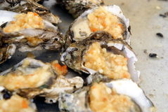 Roast oyster Stock Photography