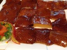 Roast peking duck. Chinese food, roast peking duck dish Stock Photos