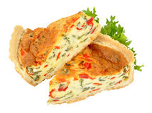 Roast Peppers And Cheese Quiche Royalty Free Stock Image