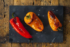 Roast peppers Stock Photography