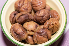Roast pickled chestnuts Stock Photography