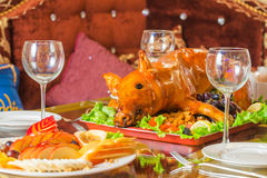 Roast pig Stock Photography