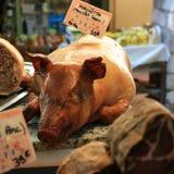 Roast piglet Stock Photography