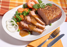 Roast pork Stock Image