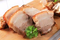 Roast pork belly Stock Images