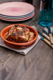 Roast pork in a bowl Royalty Free Stock Photography