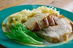 Roast pork with crackling Royalty Free Stock Photos