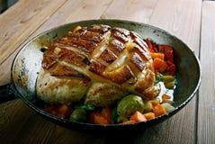 Roast pork with crackling Stock Photo