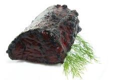 Roast pork and dill isolated Stock Photos