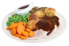 Roast Pork Dinner Stock Image